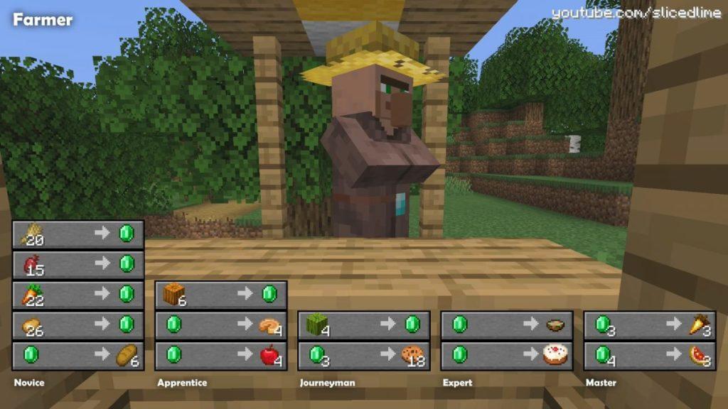 Wie man Handel und Austausch mit den Dorfbewohnern der bauer in Minecraft