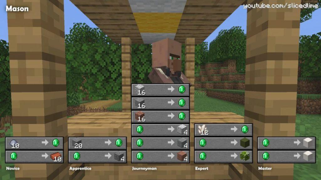 Wie man Handel und Austausch mit den Dorfbewohnern der maurer in Minecraft