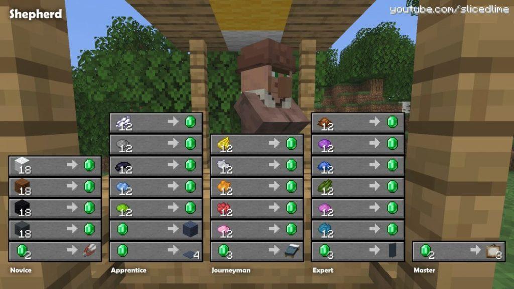 Wie man Handel und Austausch mit den Dorfbewohnern der shafer in Minecraft