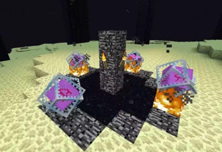 make appear ender dragon minecraft crystal