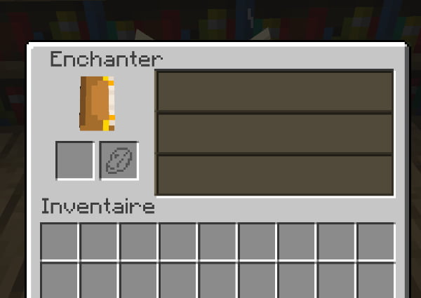 minecraft enchanting table interface