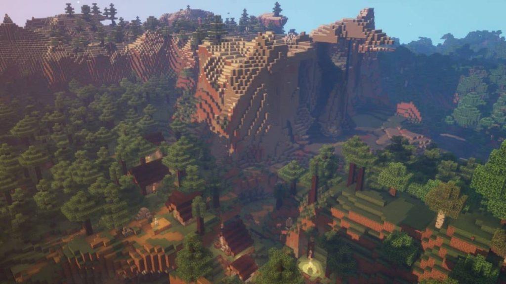 Wald des verlorenen Dorfes